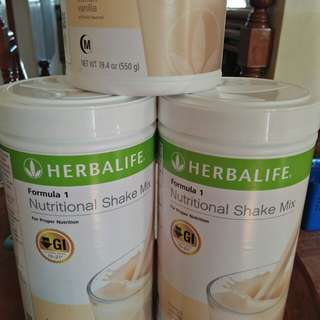 Herbalife Nutritional Shakes Formula 1 Powder French Vanilla flavor
