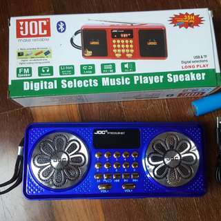 Radio FM JOC with bluetooth speaker USB microsd