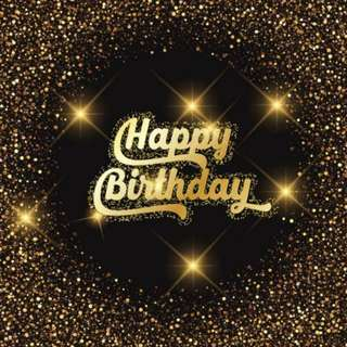 Dark Gold Sequins Spots Wall Sparkles Happy Birthday Photobooth Backdrop