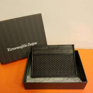 Ermenegildo zegna 全新 black leather card holder