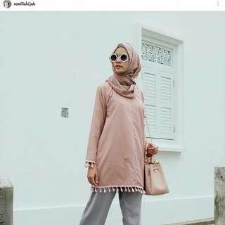 Tassel blouse by vanilla hijab vanila hijab tunik murah