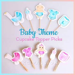 👶🏼 BABY SHOWER THEMED CUPCAKE TOPPER