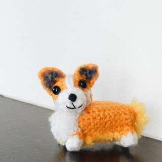 Crochet mini corgi