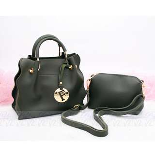 PhoebesXM2 High Quality 2in1 Hand sling bag Free pouch 0543