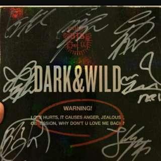 BTS DARK AND WILD ALBUM with SIGNED