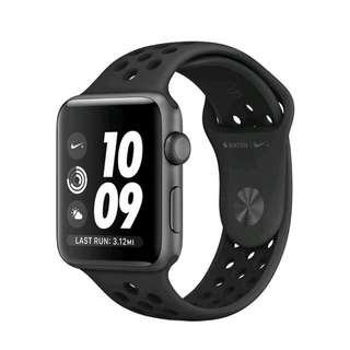 Apple Watch 38mm Series 3 Nike+ Anthracite Sport Band Bisa Kredit
