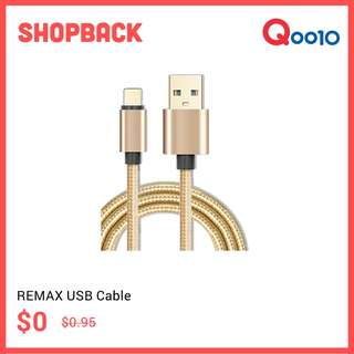 Remax USB Fast Charge Cable