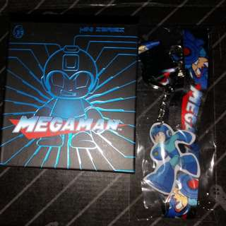 Megaman mystery fig and lanyard