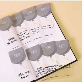 SM sum滿額禮 Exo 2018 Love season3情人節書籤珉錫燦烈世勳
