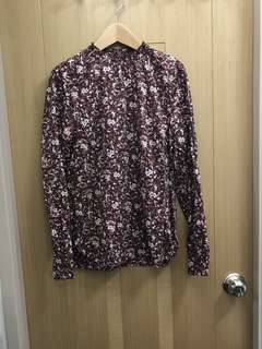 Europe Brand Women Printed Flower Woven Blouse - 女裝碎花恤衫