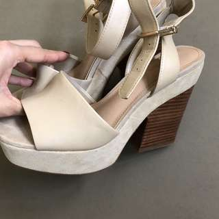 REAL Leather Suede Wedges