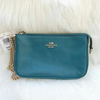 Readystock. Authentic Coach Large Wrislet in Dark Teal