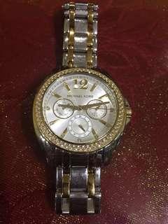 Michael Kors Michael Kors MK5693 Gold & Silver Tone Stainless Steel Bracelet Chronograph Watch