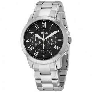 FOSSIL GRANT CHRONOGRAPH STAINLESS STEEL WATCH
