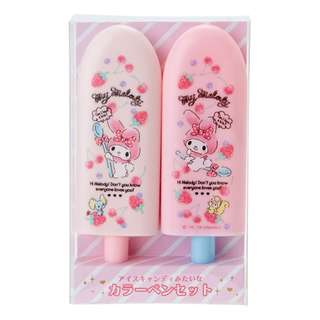 Japan Sanrio My Melody Fruit Bar Shape Color Pen Set (Fruit)