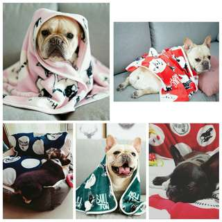 【現貨】 毛小孩 療癒 法鬥 小被被 秋冬必備 法鬥圖案 寵物 毛毯 被子 暖暖的 好舒服 好眠 巴哥 聖誕節 禮物