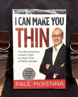《Bran-New + Come With Guided Hypnosis CD + Would You Like To Eat Whatever You Want And Still Lose Weight?》Paul McKenna - I CAN MAKE YOU THIN - The Revolutionary System Used By More Than 6 Million People