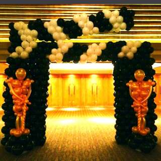 Movie night Oscar academy award company events balloon design decoration
