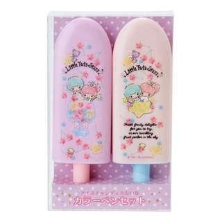 Japan Sanrio Little Twin Stars Fruit Bar Shape Color Pen Set (Fruit)