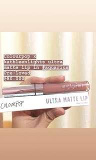 Colourpop x kathleenlights ultra matte lip in #aquarius