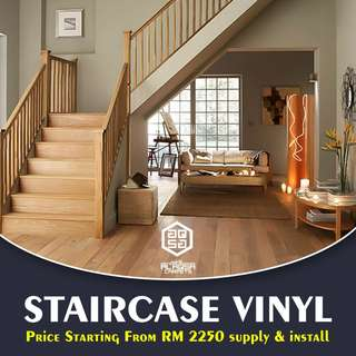 Create Intense impressions in less than a minute by our staircase vinyl!