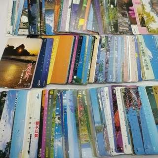 集卡欣賞50張珍藏日本八九十年代已使用電話卡鐵路卡JR日本風情畫地鐵圖書風景旅遊