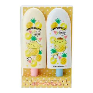 Japan Sanrio Pompompurin Fruit Bar type Color Pen Set (fruit)