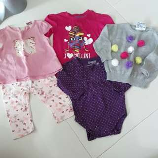 Brand New Baby Girl's Clothes Bundle Set 12 months