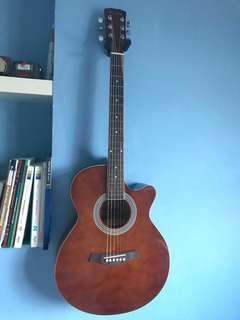 Brown Cutaway Acoustic Guitar