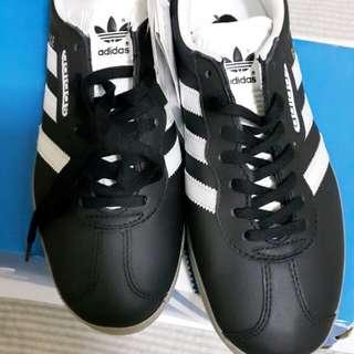 adidas Originals GAZELLE SUPER經典復刻黑色皮革膠底休閒鞋 專櫃 正品 全新 23.5cm/UK5/US5.5