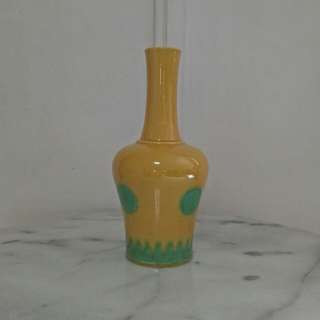 Republic period yellow glazed vase height 23cm perfect condition