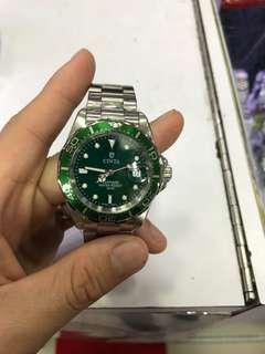 藍寶石 Cinta 綠綠 水鬼款 鋼錶