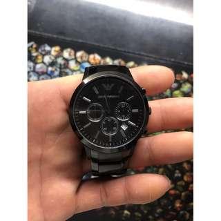 阿瑪尼男錶 AR2453  黑色