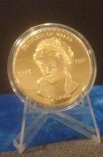 Princess Diana Coin Souvenir Token/ The Last Rose of England