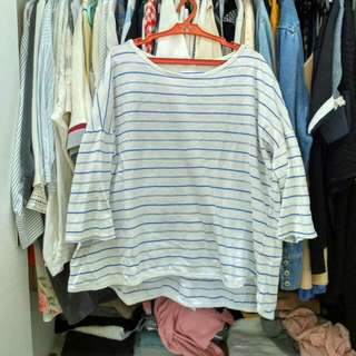 Made in korea blue stripes pullover