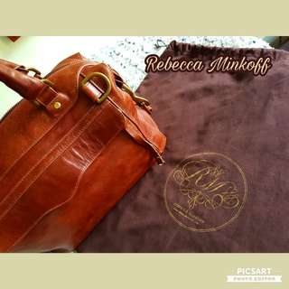 Genuine Rebecca Minkoff Tan Leather Satchel. Shoulder/ Handcarry. Comes with Dust-bag. Good & Clean condition. $68 Clearance Sale! Sms 96337309.