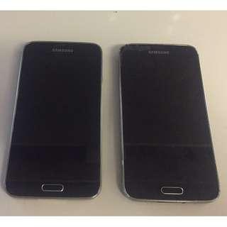 2 Samsung galaxy s5's