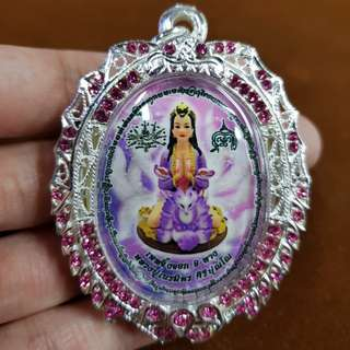 Thai amulets Jing Jok Kow Hang 9 tails fox lady Lp Kruba Neramit. Bring the very success in love and in life. Lucky pendant, holy blessed