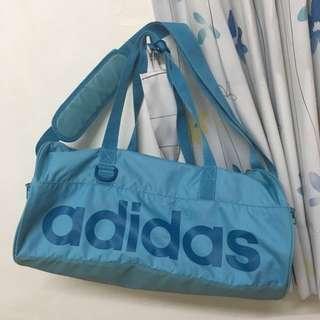 (D.S) adidas Perforated Team Bag S 湖水藍 手提 側背包 健身房 旅行袋 AY 5204