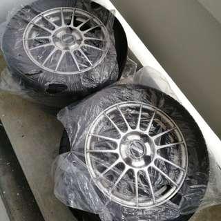 CS3 Stock Rims with Tyres 80% Thread (Nego)