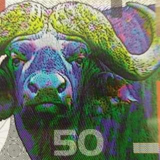 2009年 牛年生肖 坎培拉銀行 50元 塑膠鈔 全新直版