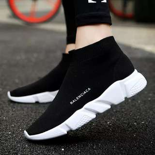 Autumn unisex running shoes for adult woman man lightweight Breathable mesh sports cheap high top sneakers stability size 36-44
