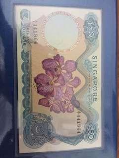 Prefix A1 $50 Orchid Series