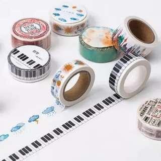 🚚 鋼琴鍵盤和紙膠帶
