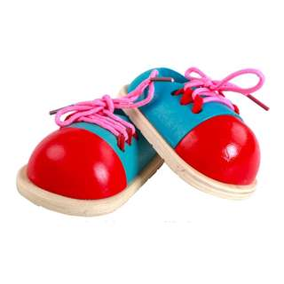 Wooden Shoe Lacing Toy