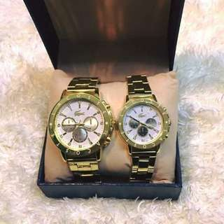 Couple stainless watch