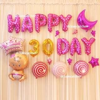 Full Month Balloon Set for Baby Girl!