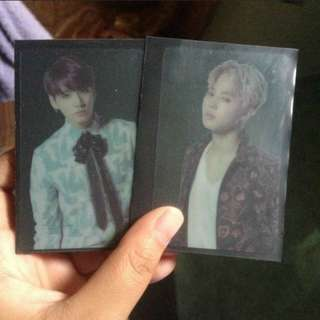 WTS BTS JIMIN AND JUNGKOOK RARE PHOTOCARDS