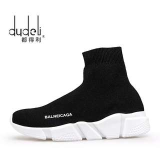 DUDELI men Socks Sneakers New Round Bottom Elastic Fabric Women Sports Shoes Paris Couple Running Shoes Zapatos Mujer Deportivos
