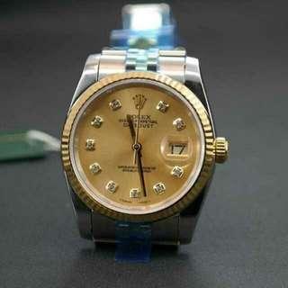 Rolex datejust 116233 Champagne Diamond Dia